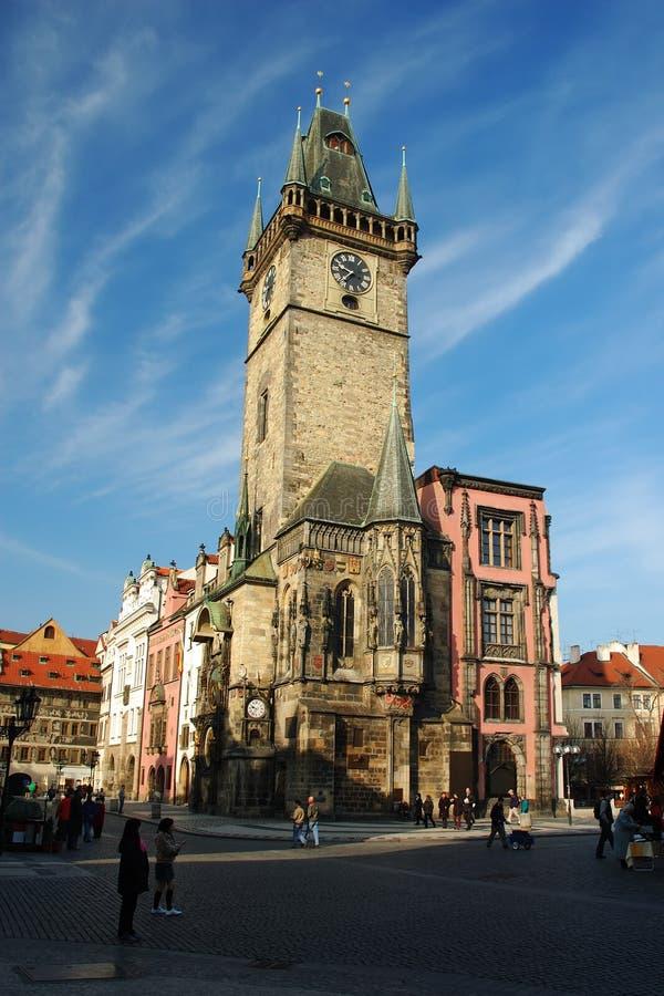 Oude guildhall van Praag stock foto's