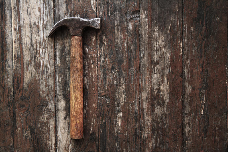 Oude hamer royalty-vrije stock afbeelding