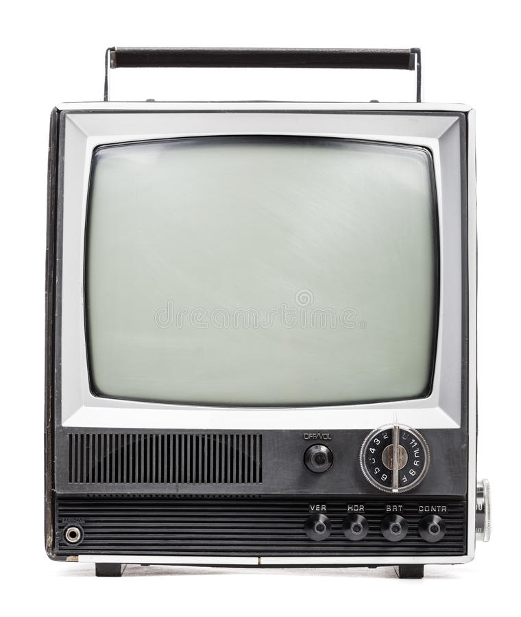Oude handbediende televisie royalty-vrije stock foto