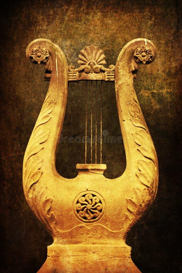 Oude harp royalty-vrije stock fotografie
