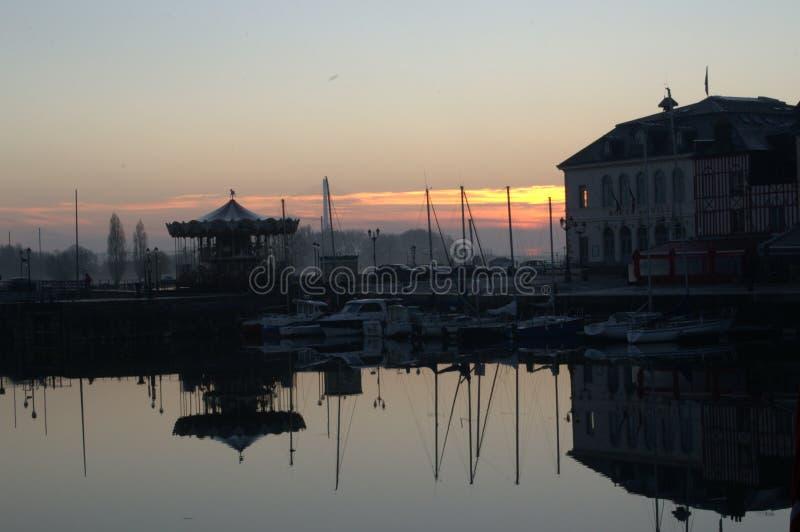 Oude Haven, Honfleur Normandie royalty-vrije stock foto's