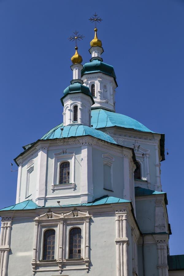 Oude Heilige Verrijzeniskathedraal Stad Soumi ukraine stock afbeelding