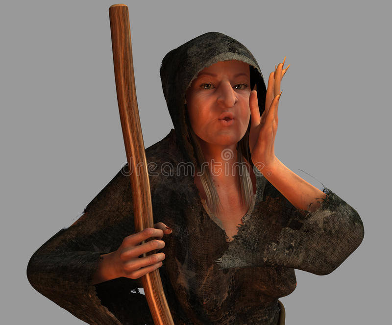 Oude Heks royalty-vrije illustratie