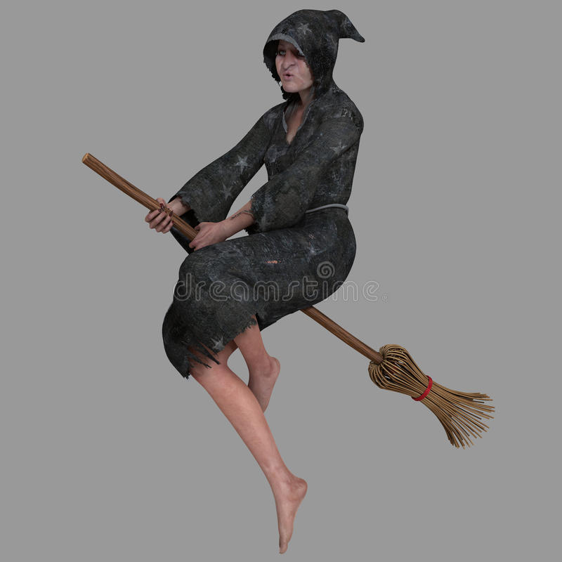 Oude Heks stock illustratie