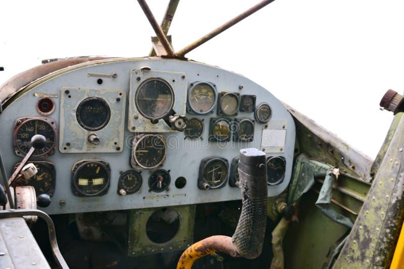 Oude helikopterwijzerplaten royalty-vrije stock foto