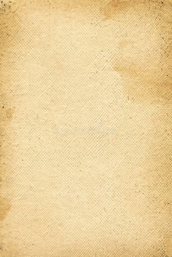 Oude het document van het grungecanvas textuur stock afbeelding