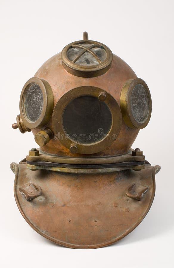 Oude het Duiken van het Brons Helm royalty-vrije stock fotografie