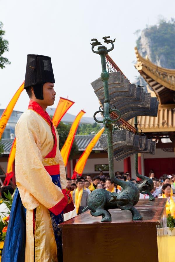 Oude het hofmusicus van China royalty-vrije stock afbeelding
