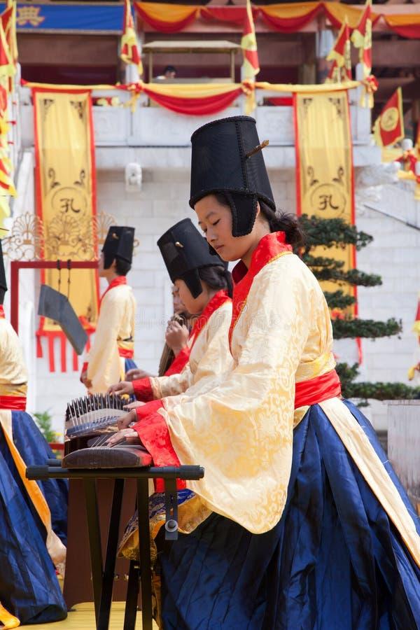 Oude het hofmusicus van China stock foto