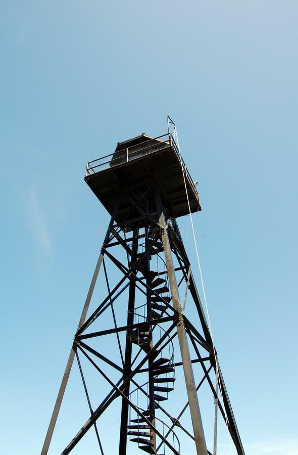 Oude het horlogetoren van de Alcatrazgevangenis stock afbeelding