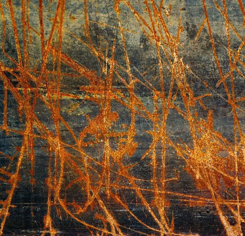 Oude het metaaltextuur van het roestijzer. stock foto