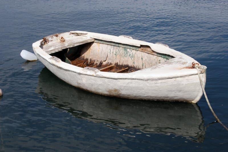 Oude het roeien boot stock foto's