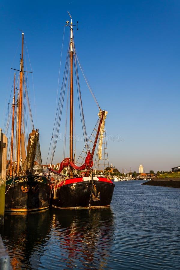 Oude het varen freightships royalty-vrije stock foto