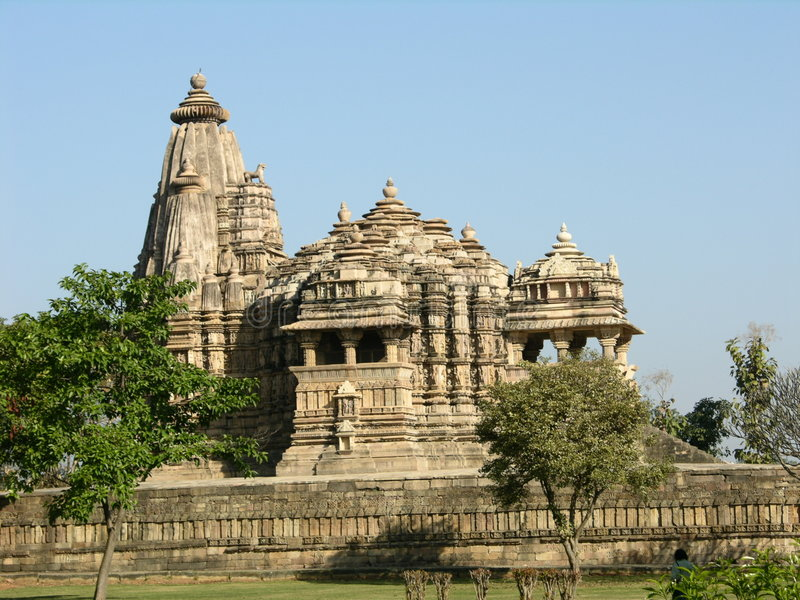 Oude Hindoese Tempel in Khajur royalty-vrije stock fotografie