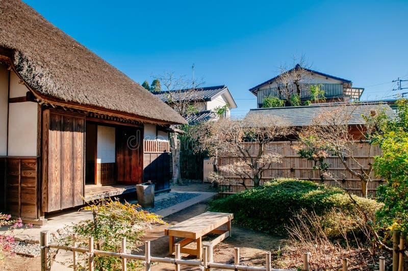Oude historische Samoeraienhuizen in Sakura-stad, Chiba, Japan stock afbeelding