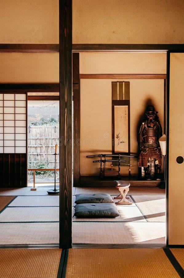 Oude historische Samoeraienhuizen in Sakura-stad, Chiba, Japan stock afbeeldingen