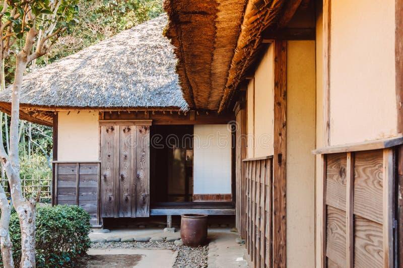 Oude historische Samoeraienhuizen in Sakura-stad, Chiba, Japan stock fotografie