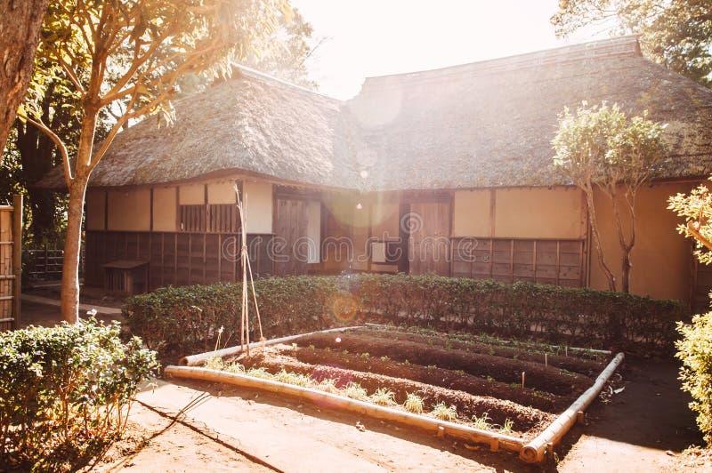 Oude historische Samoeraienhuizen in Sakura-stad, Chiba, Japan royalty-vrije stock foto