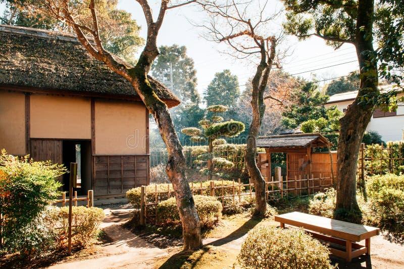 Oude historische Samoeraienhuizen in Sakura-stad, Chiba, Japan stock foto