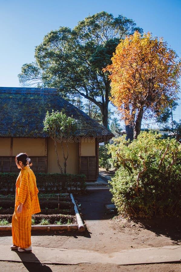 Oude historische Samoeraienhuizen in Sakura-stad, Chiba, Japan royalty-vrije stock afbeelding