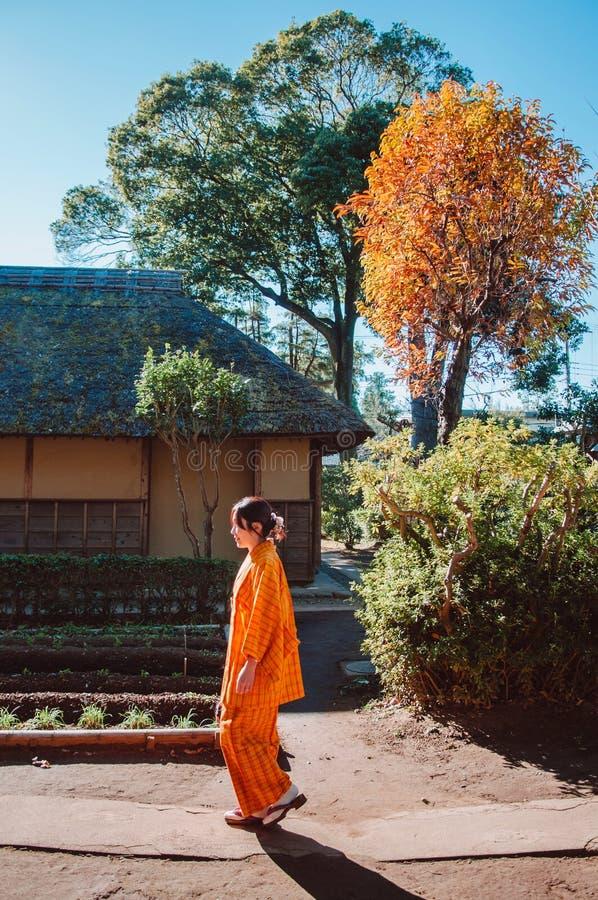 Oude historische Samoeraienhuizen in Sakura-stad, Chiba, Japan royalty-vrije stock foto's