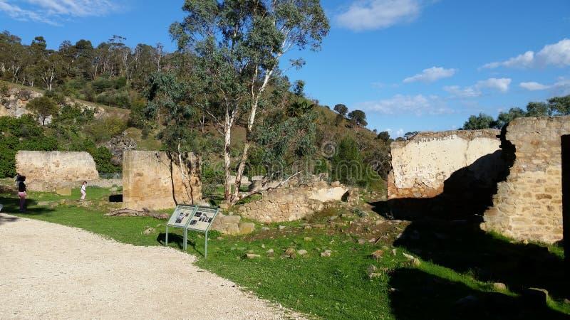 Oude hoeve/kinderdagverblijf de bouw ruïnes royalty-vrije stock afbeeldingen