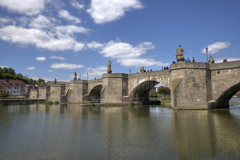 Oude Hoofdbrug Wurzburg, Duitsland royalty-vrije stock afbeelding