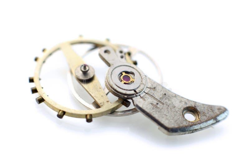 Oude horlogedelen stock afbeeldingen