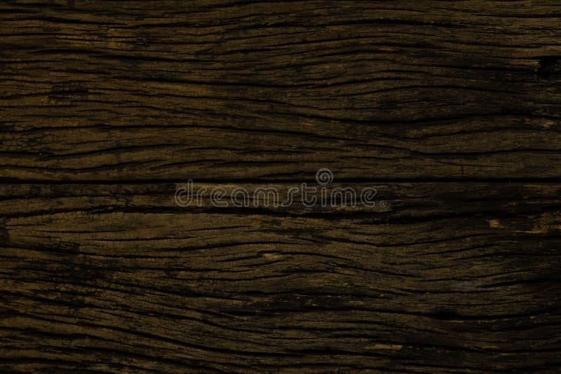 Oude houten achtergrond Grungy gebarsten houten raad door close-up geweven achtergrond royalty-vrije stock afbeelding
