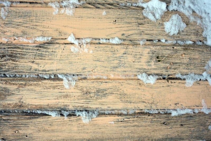 Oude houten achtergrond van raad met gebarsten en schilverf stock foto