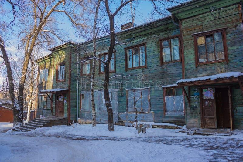 Oude houten barak royalty-vrije stock foto's