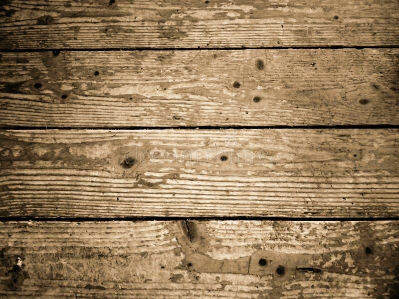 Oude houten bevloering Horizontale mening van houten vloerplanken stock foto