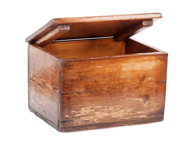 Oude houten borst royalty-vrije stock foto