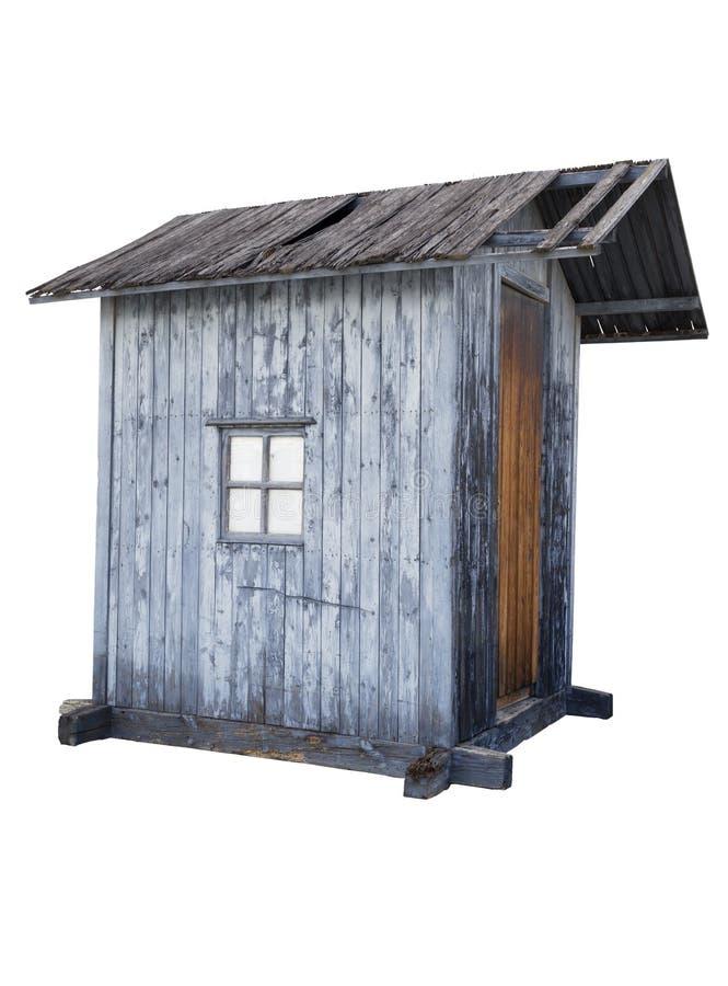 Oude houten cabine royalty-vrije stock foto