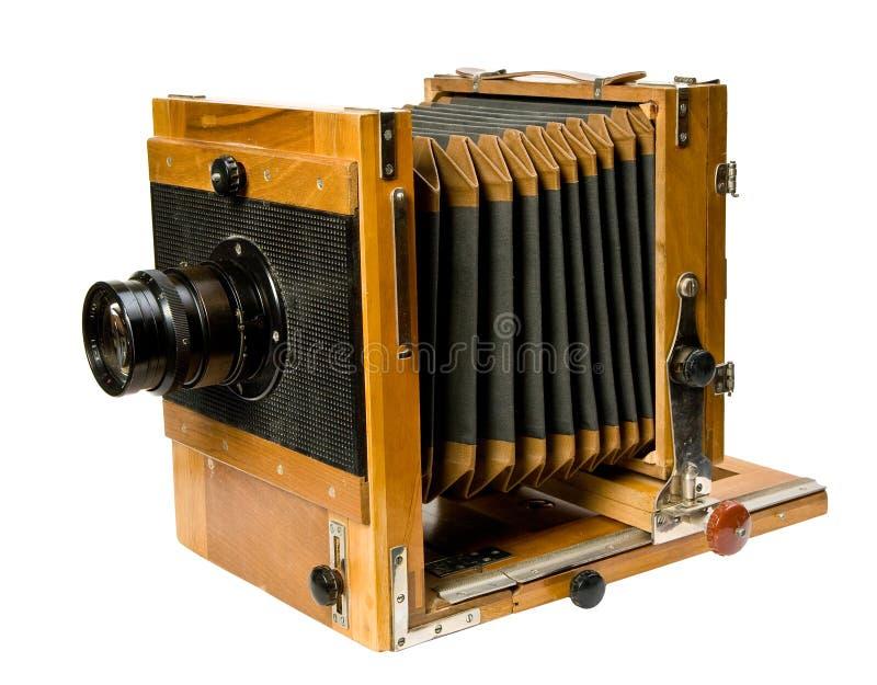 Oude Houten Camera Stock Afbeelding