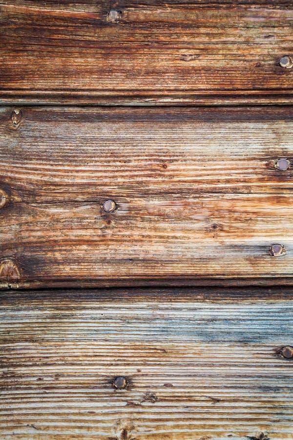 Oude houten deur met spijkers stock afbeeldingen