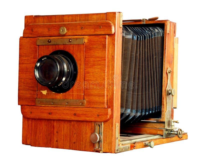 Oude houten fotocamera royalty-vrije stock foto's