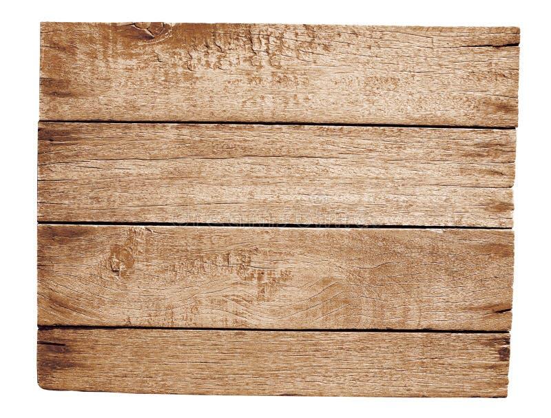Oude houten geïsoleerdea plaat stock foto