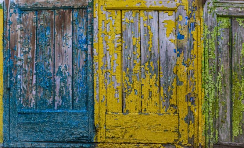 Oude houten gele achtergrond royalty-vrije stock afbeeldingen