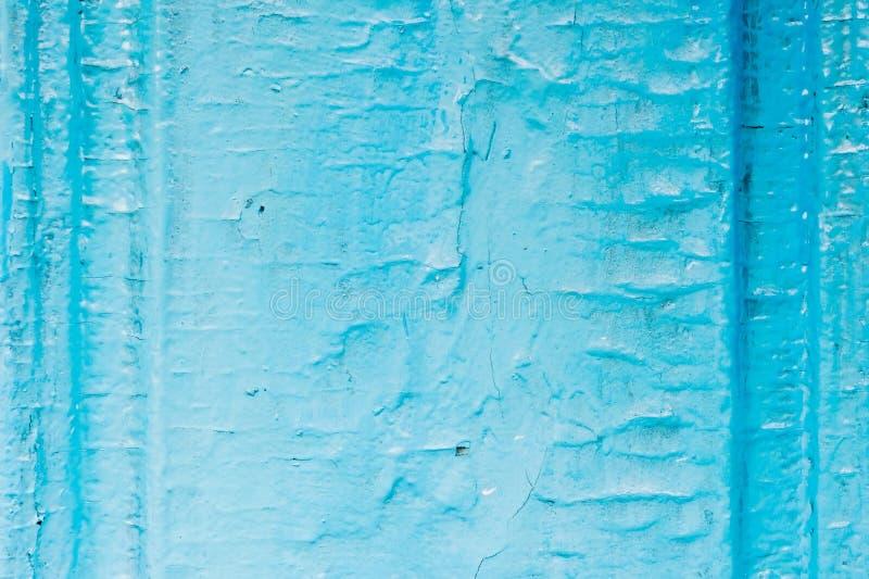 Oude houten geschilderde lichtblauwe rustieke achtergrond met schilverf Geschilderd afgebroken en textuur van de houten oppervlak stock foto
