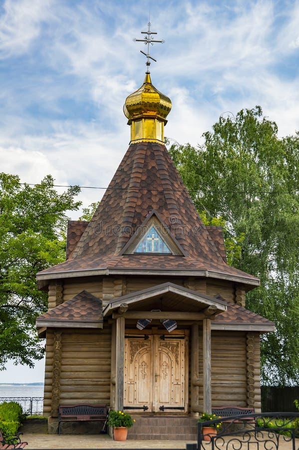 Oude houten kerk van de Oekraïense Orthodoxe Kerk royalty-vrije stock foto