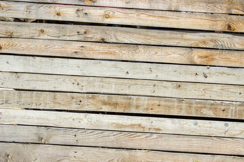 Oude houten muur, gedetailleerde achtergrondfototextuur Houten dichte omhooggaand van de plankomheining royalty-vrije stock foto