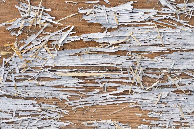 Oude houten muur met witte verf Houten textuur stock foto's
