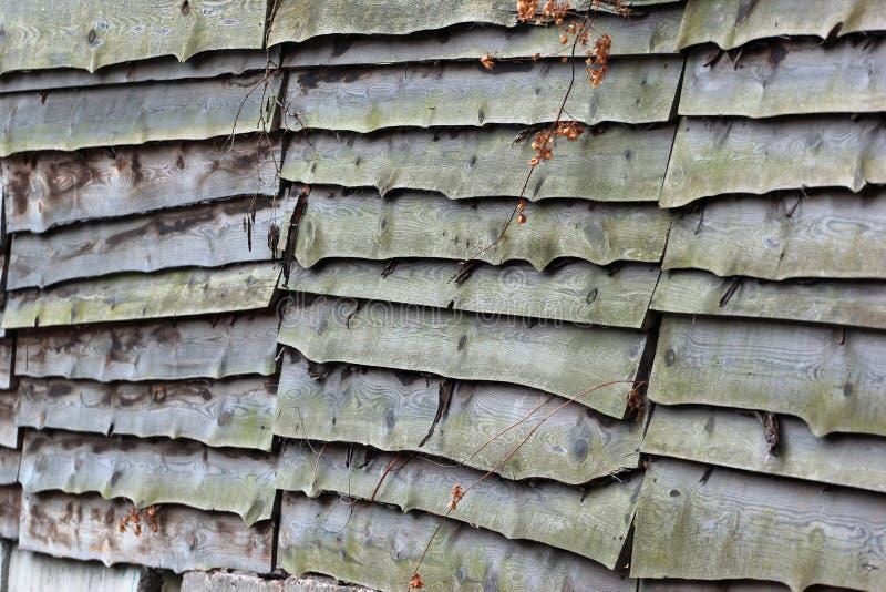 Oude houten omheiningstextuur stock foto's