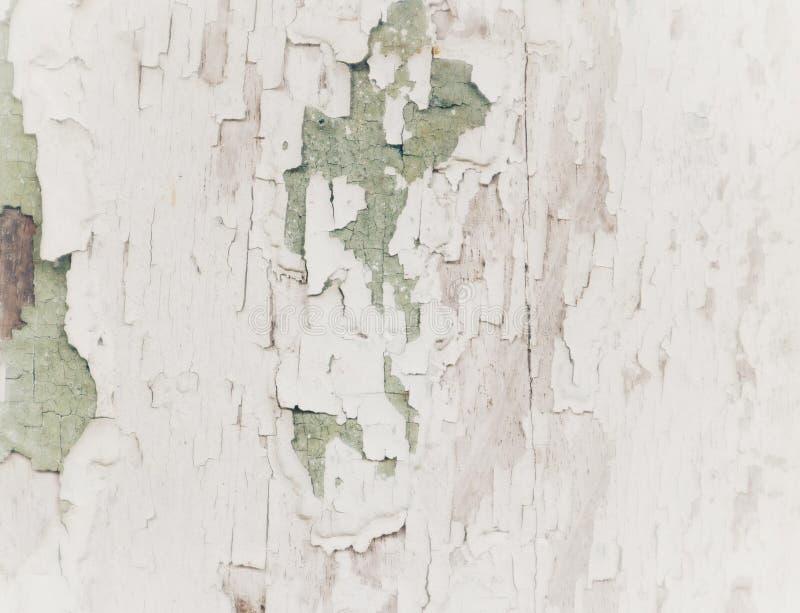 Oude houten oppervlakte met witte barsten, grijze, abstracte achtergrond, geweven exemplaar, lege ruimte royalty-vrije stock foto's