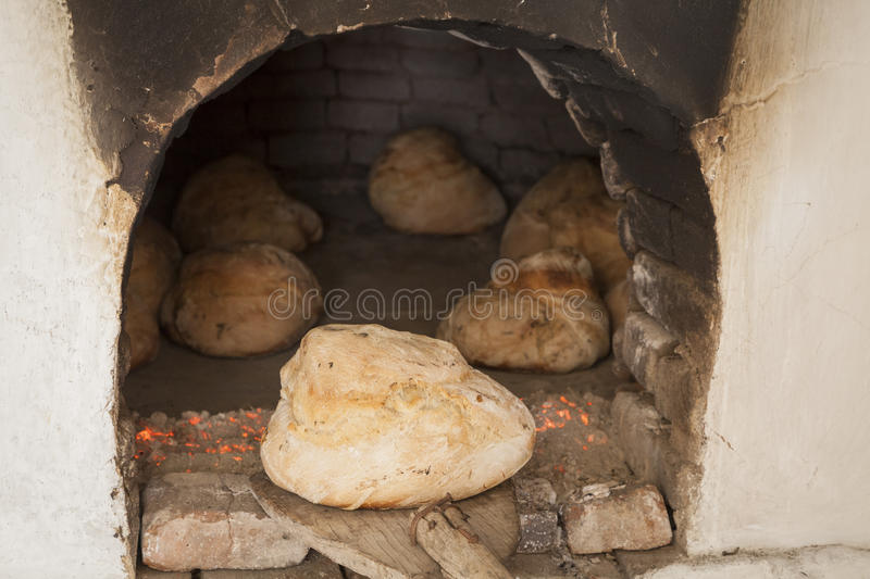 Oude houten oven royalty-vrije stock foto's