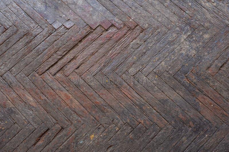 Oude houten parketbevloering royalty-vrije stock afbeelding