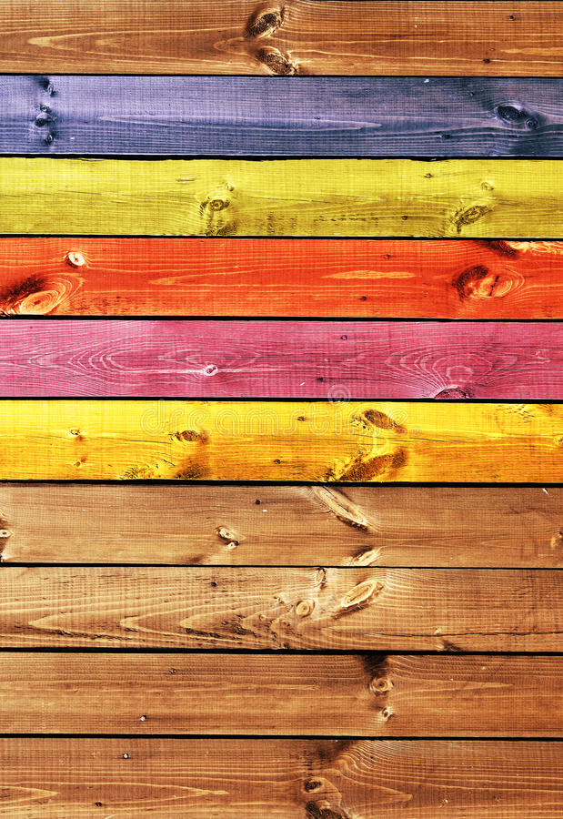 Oude houten raad van veelkleurig royalty-vrije stock foto's