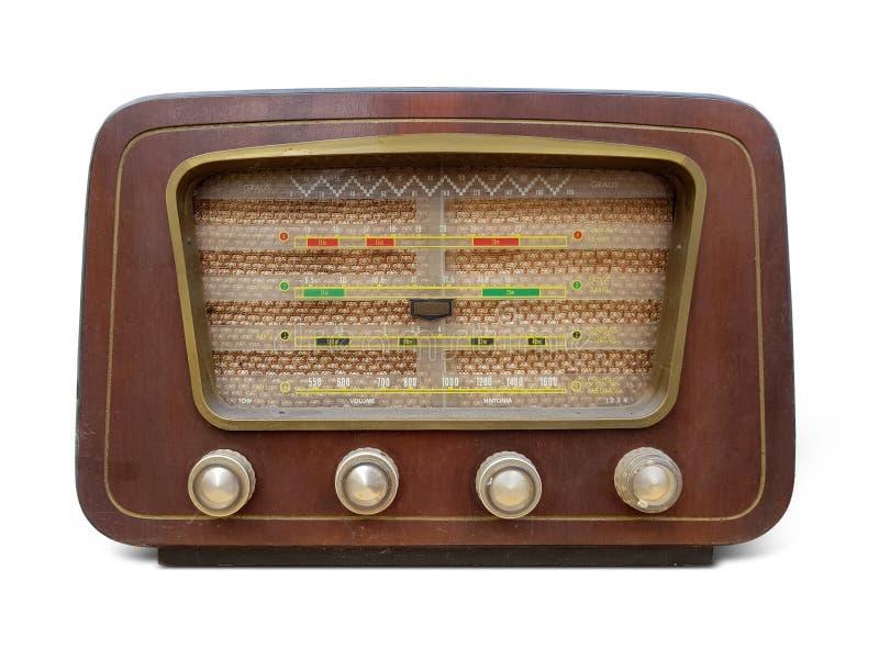 Oude houten retro stijl radioontvanger royalty-vrije stock fotografie