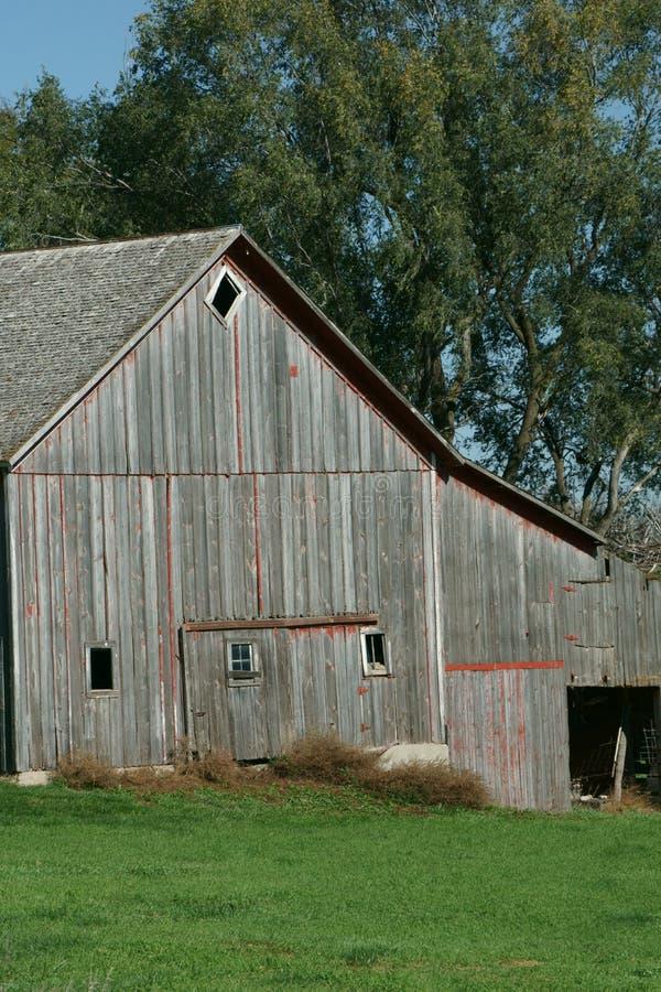 Oude houten schuren in het Midwesten stock fotografie